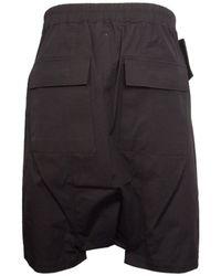 Rick Owens Drawstring Memphis Pod Shorts Black for men