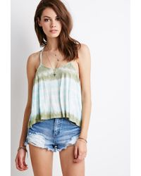 Forever 21 | Blue Tie-dye Y-back Cami You've Been Added To The Waitlist | Lyst