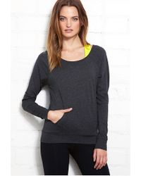 Forever 21 Gray Active Heathered Knit Pullover You've Been Added To The Waitlist