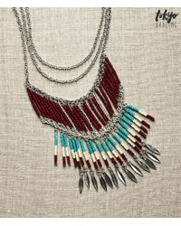 Tokyo Darling | Multicolor Inverted Triangle Long-strand Necklace | Lyst