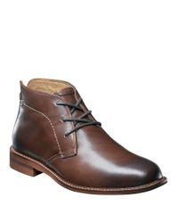 Florsheim Brown Doon Leather Chukka Boots for men