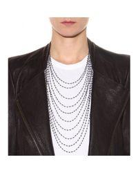 Iam By Ileana Makri | Metallic Multi-Strand Crystal Necklace | Lyst