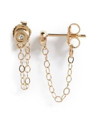 Melissa Joy Manning | Metallic Diamond Ear Chains | Lyst
