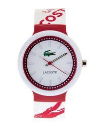 Lacoste - White & Fuchsia Men'S Watch for Men - Lyst