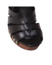 Carvela Kurt Geiger Black Kimberley Platform Court Shoes