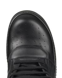 Rick Owens Black Sphinx Geobasket High-top Leather Trainers for men