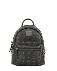 MCM Black Extra Mini Stark Faux Leather Backpack