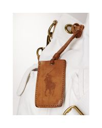 Polo Ralph Lauren - White Canvas Drawstring Shoulder Bag - Lyst