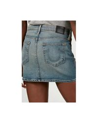 True Religion | Blue Alexia Mini Skirt | Lyst