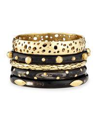 Ashley Pittman - Metallic Nadra Dark Horn Bracelets - Lyst