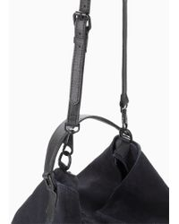 Mango Blue Leather Hobo Bag