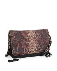 Aimee Kestenberg Pink Snakeskin Crossbody Bag