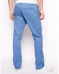 ASOS Blue Straight Chinos for men