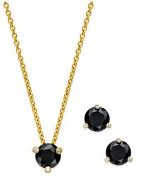 kate spade new york | Metallic 14k Gold-plated Stone Stud Earrings And Pendant Necklace Set | Lyst