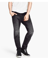 H&M | Black Twisted Jeans for Men | Lyst