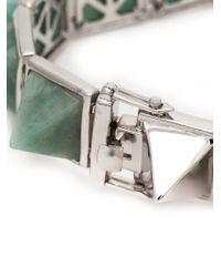Eddie Borgo - Metallic Gemstone Pyramid Bracelet - Lyst