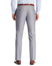 BOSS - Gray 'genesis' | Slim Fit, Cotton Dress Pants for Men - Lyst