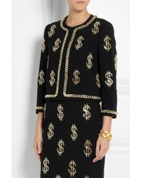 Moschino Black Chain Dollar-sign Jacket