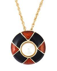 Guy Laroche | Metallic Pendant Chain Necklace | Lyst