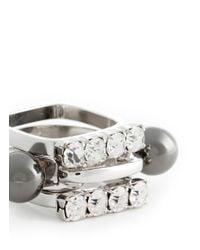 Joomi Lim | Metallic 'modern Muse' Rhodium Sphere Crystal Ring Set | Lyst