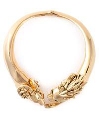 Giuseppe Zanotti | Metallic Lion Necklace | Lyst