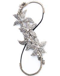 Deepa Gurnani | Metallic Whimsical Crystal Headband | Lyst