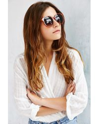 Urban Outfitters Brown Double Layer Oversized Round Sunglasses