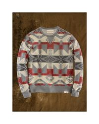 Denim & Supply Ralph Lauren | Gray Geometric Cotton Sweatshirt for Men | Lyst