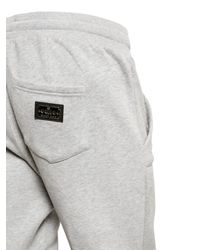 Philipp Plein Gray Quilted Cotton Jersey Jogging Trousers for men