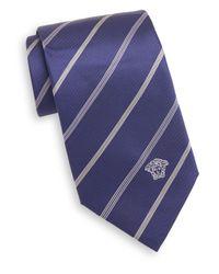 Versace | Blue Striped Silk Tie for Men | Lyst