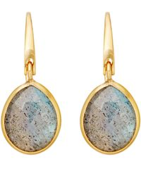 Astley Clarke | Pink Small Stilla Labradorite Drop Earrings | Lyst