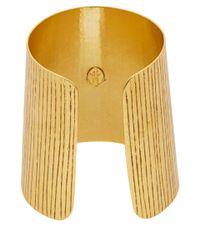 Herve Van Der Straeten - Metallic Gold-Plated Etched Cuff - Lyst