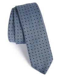 HUGO - Blue Dot Wool & Silk Tie for Men - Lyst