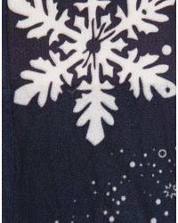 ASOS - Black Snowflake Ankle Socks - Lyst