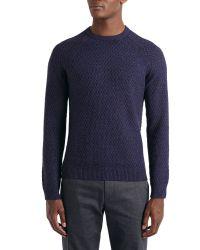 Ted Baker Purple Morrelo Textured Raglan Sleeve Jumper for men