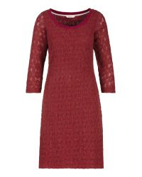 Sandwich Red Winter Crochet Dress