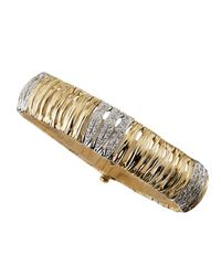 Roberto Coin - Metallic Twisted Link Diamond Flex Bracelet for Men - Lyst