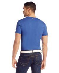 BOSS Green - Blue Cotton T-shirt: 'tee 5' for Men - Lyst