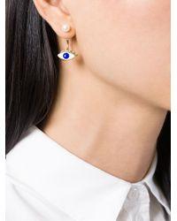 Delfina Delettrez | Metallic 'Eye Piercing' Earring | Lyst
