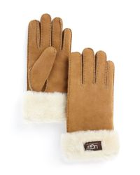 UGG Brown ® Turn Cuff Gloves