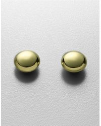 Lord & Taylor | Metallic 18kt Gold Plated Sterling Silver Puffed Button Stud Earrings | Lyst