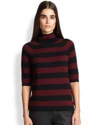 Burberry Brit - Red Striped Cashmere Sweater - Lyst