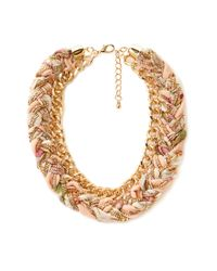 Forever 21 | Pink Simple Rhinestoned Wreath Necklace | Lyst