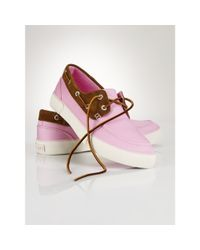 Polo Ralph Lauren | Pink Chino Rylander Boat Shoe for Men | Lyst