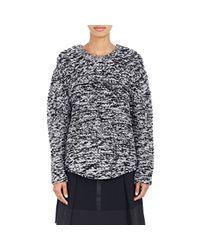 Public School Black Purl-stitched Oversized Sweater