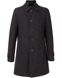 Herno Gray 'Storm System' Coat for men