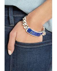 Ann Dexter-Jones - Blue Sterling Silver, Lapis Lazuli And Sapphire Id Bracelet - Lyst