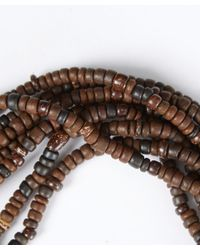 Eskandar | Brown Carved Coconut Beaded Necklace | Lyst