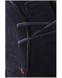 BOSS Orange Blue Suede Ankle Boots 'voluder' for men
