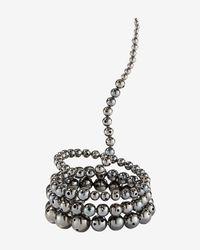 Paula Mendoza | Metallic Nereus Beaded Coil Bracelet: Gunmetal | Lyst